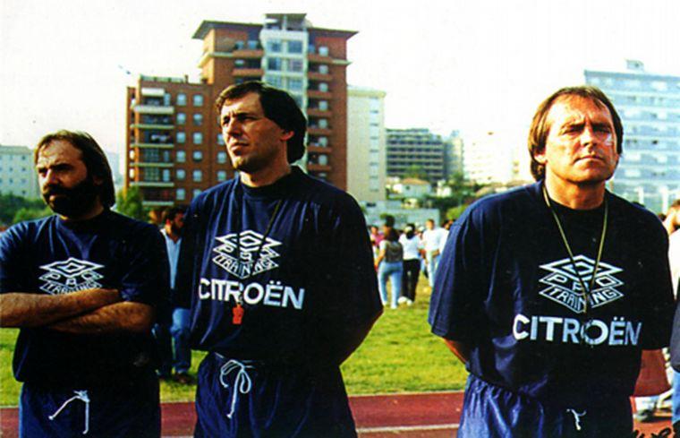 FOTO: Aimar también fue entrenador de fútbol.