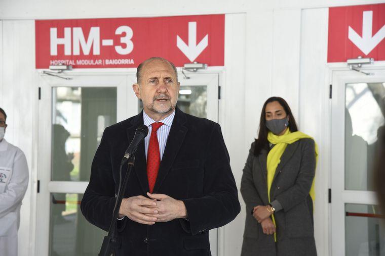 FOTO: El Hospital Modular de Granadero Baigorria había sido inaugurado por el gobernador.