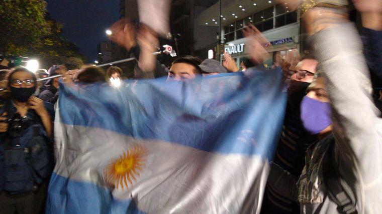AUDIO: Testimonios de policías de la Bonaerense en la marcha