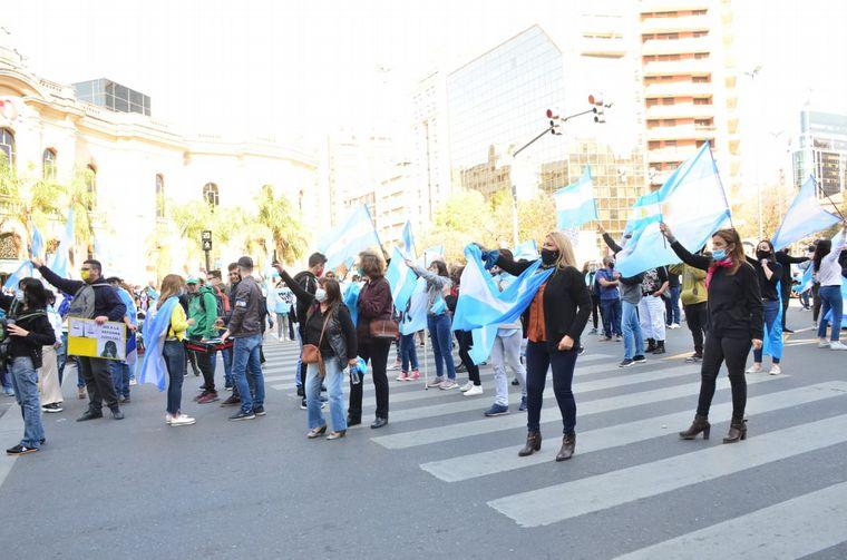 FOTO: Marcha en Córdoba contra el Gobierno nacional.