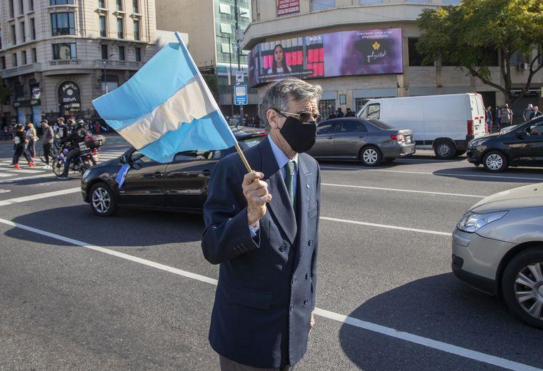 FOTO: Una de las concentraciones contra el Gobierno nacional fue en el Obelisco.