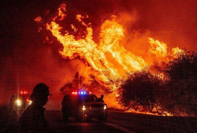FOTO: Históricos incendios forestales en Estados Unidos (AFP).