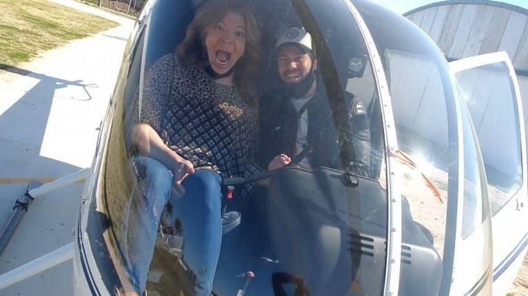 FOTO: Lizy Tagliani celebró su cumpleaños con un viaje en helicóptero
