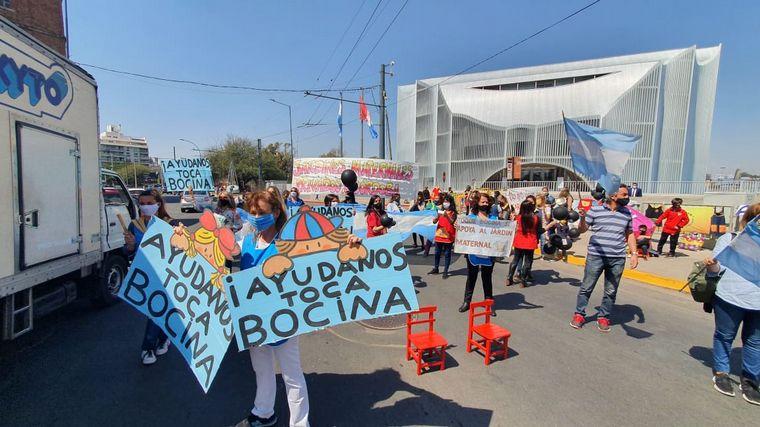 FOTO: Protesta de jardines de infantes en Córdoba