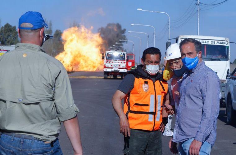AUDIO: Incendio en la ruta provincial 50 de Mendoza por un caño de gas roto
