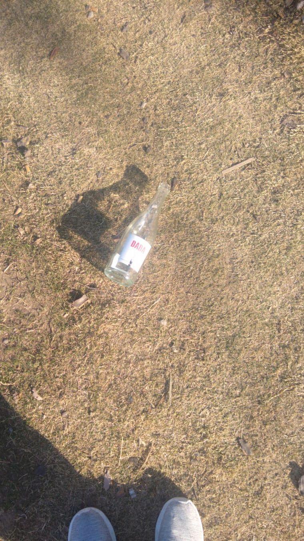 FOTO: El Parque Sarmiento amaneció repleto de botellas de bebidas alcohólicas