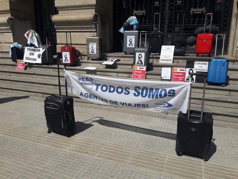 FOTO: El sector turístico sanjuanino también se manifestó en contra del cepo cambiario.