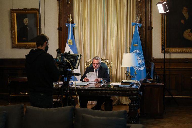 FOTO: Alberto pronunció su primer mensaje ante la Asamblea General de las Naciones Unidas.