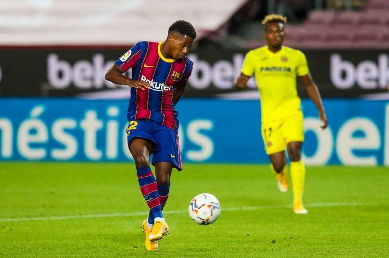 FOTO: Ansu Fati convirtió los dos primeros goles del Barcelona.