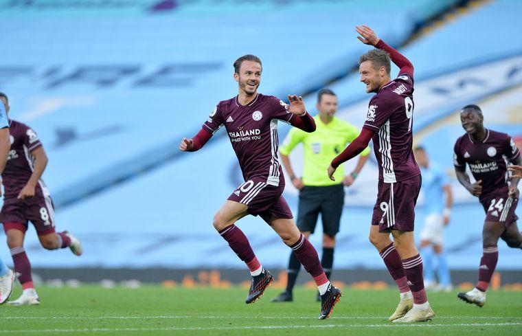 FOTO: El Leicester City sorprendió y goleó al Manchester City.