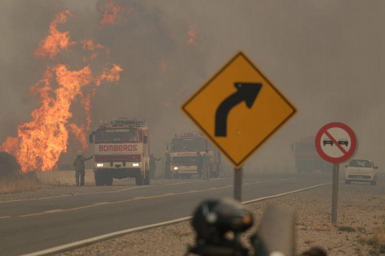 FOTO: Los incendios azotan distintos puntos de la provincia de Córdoba.