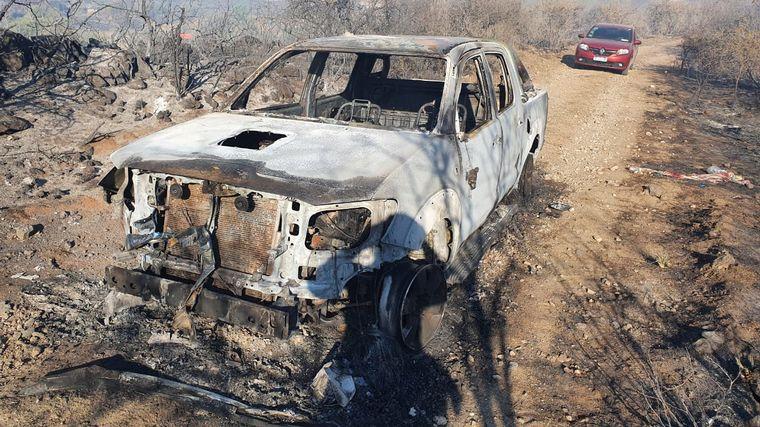 FOTO: Las llamas azotaron la zona de la localidad de Tanti (Gentileza)
