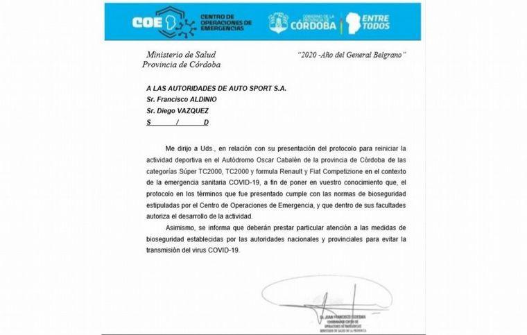 FOTO: El Súper TC2000 está autorizado para venir a Córdoba con su espectacular torneo 2020