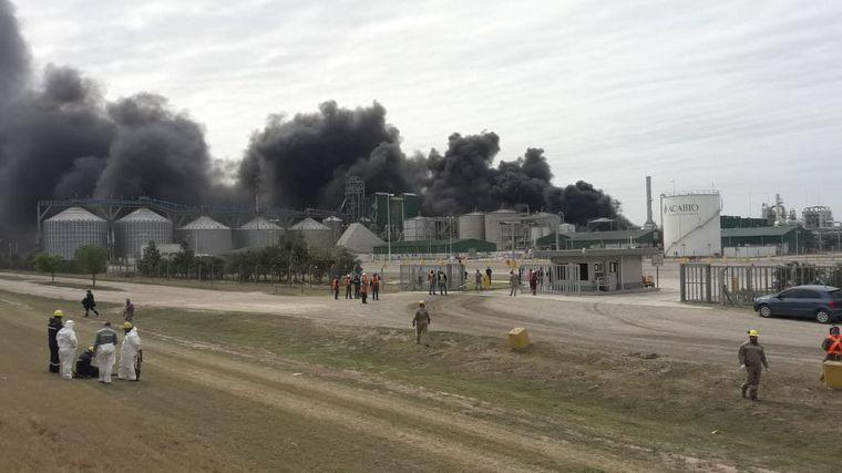 AUDIO: Se logró sofocar el incendio en la planta de bioetanol