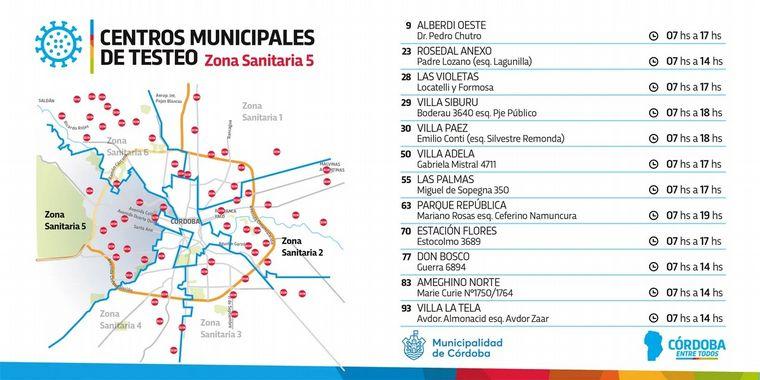 FOTO: Córdoba, testeos en los barrios