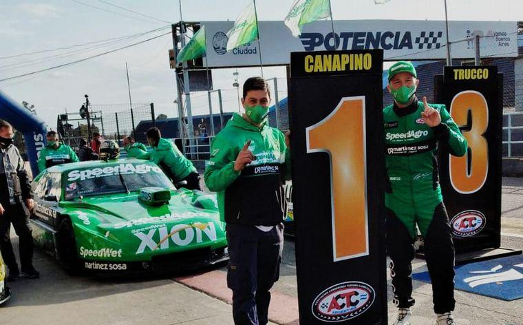 """FOTO: A la hora de clasificar en Buenos Aires, Canapino el """"1""""."""