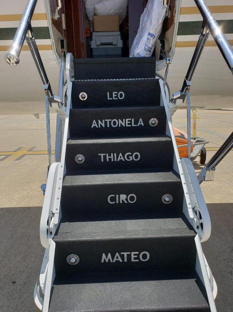 FOTO: Avión de Messi