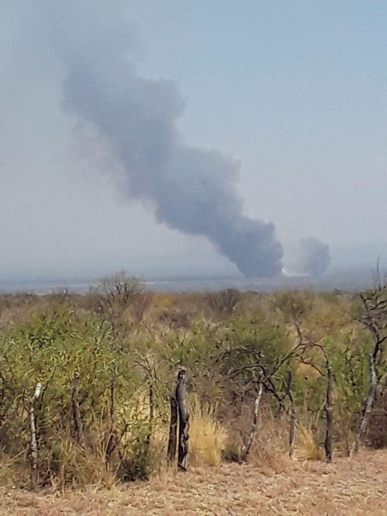 FOTO: Incendio en Valle de Traslasierra