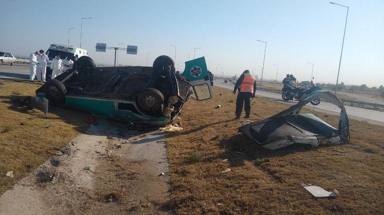 AUDIO: Volcó una ambulancia en la Circunvalación de Córdoba