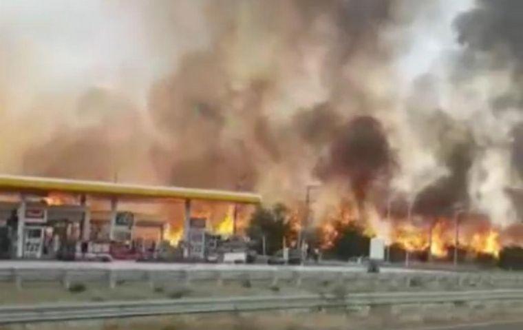 AUDIO: Playeros salvaron del fuego una estación en Córdoba: