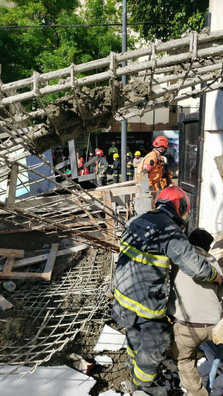 AUDIO: Se derrumbó un edificio en construcción en Belgrano