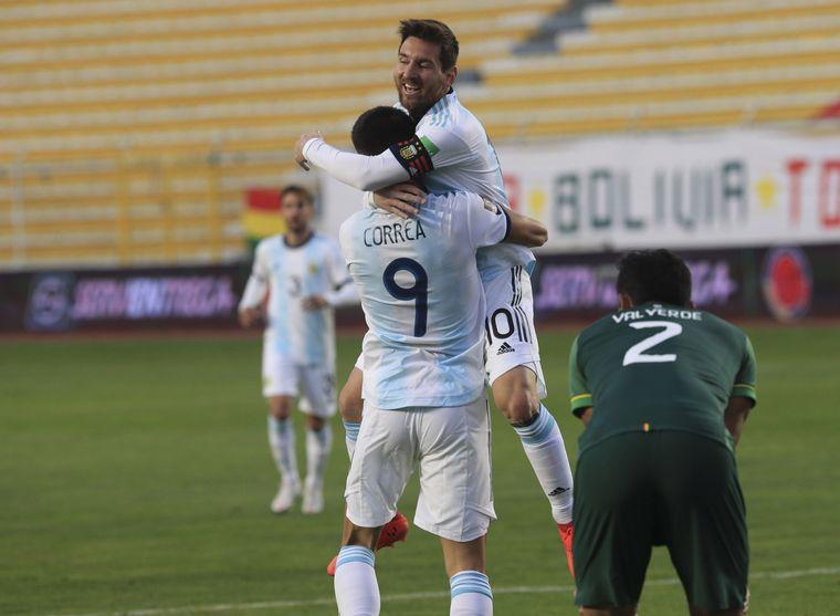 FOTO: Correa marcó el 2-1 para el seleccionado argentino (Foto: @SC_ESPN)