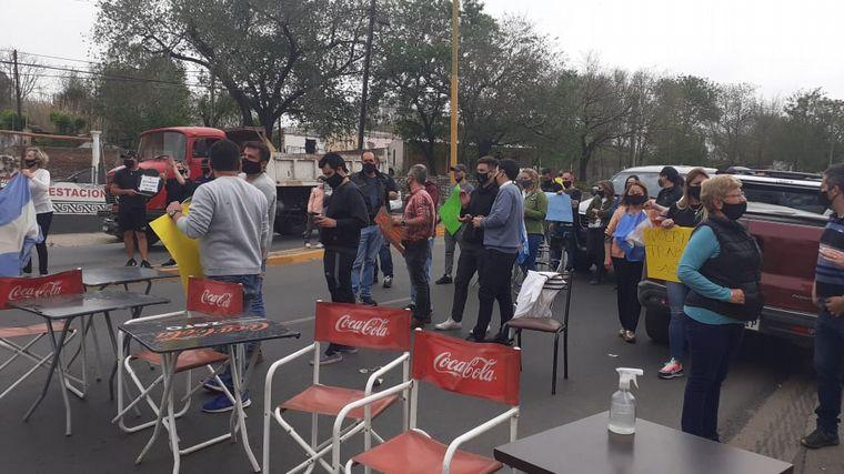 FOTO: Protesta en Cosquín.