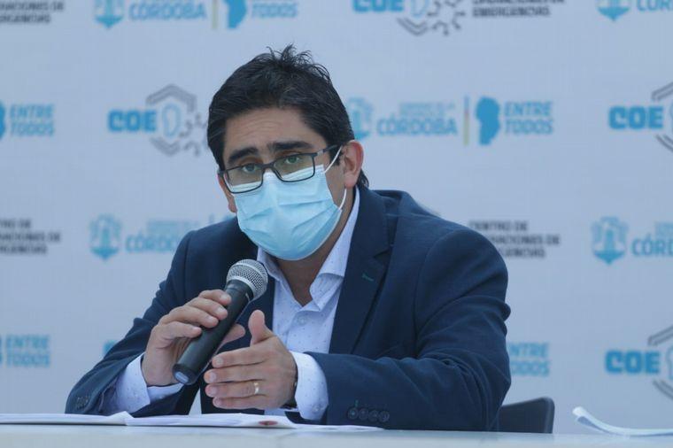 FOTO: Diego Cardozo, ministro de Salud de Córdoba.