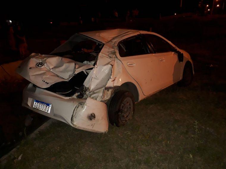 FOTO: Tres heridos en un espectacular choque en Santa Fe.