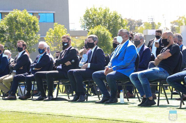 FOTO: Sortearon el fixture en el predio e la AFA en Ezeiza.