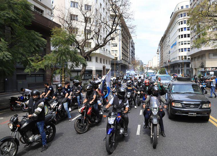 FOTO: Hugo Moyano respaldó al Gobierno en el Día de la Lealtad.