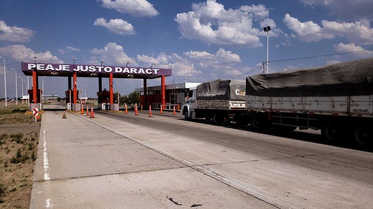 FOTO: El acceso a Justo Daract era uno de los que estaban bloqueados.