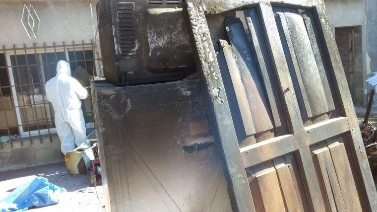 FOTO: incendio trágico en Guaymallén