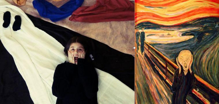 FOTO: Alumnos de la escuela Gurruchaga de Rosario imitaron obras de arte