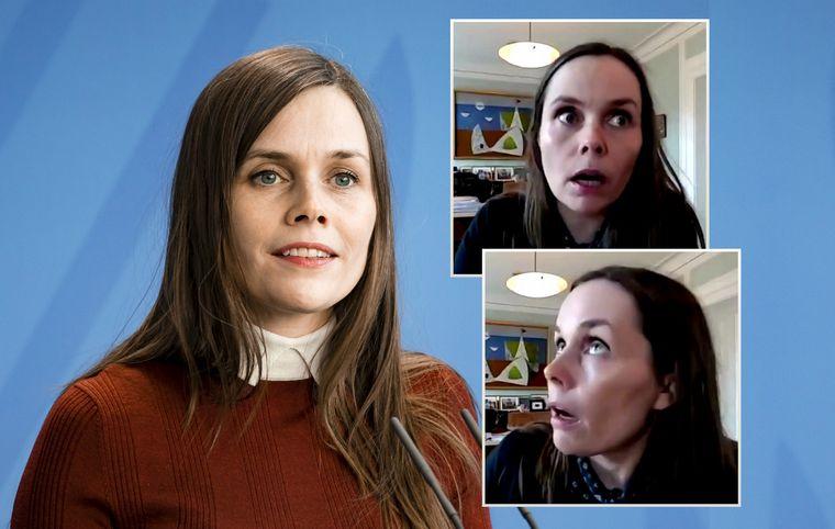 Temblor sorprendió en vivo a la primera ministra de Islandia