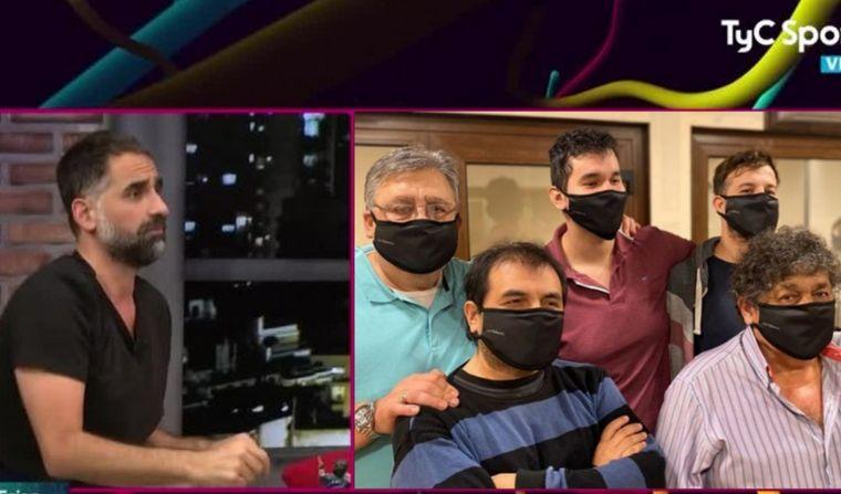 FOTO: Los Palmeras, indignados con un programa de TyC Sports.