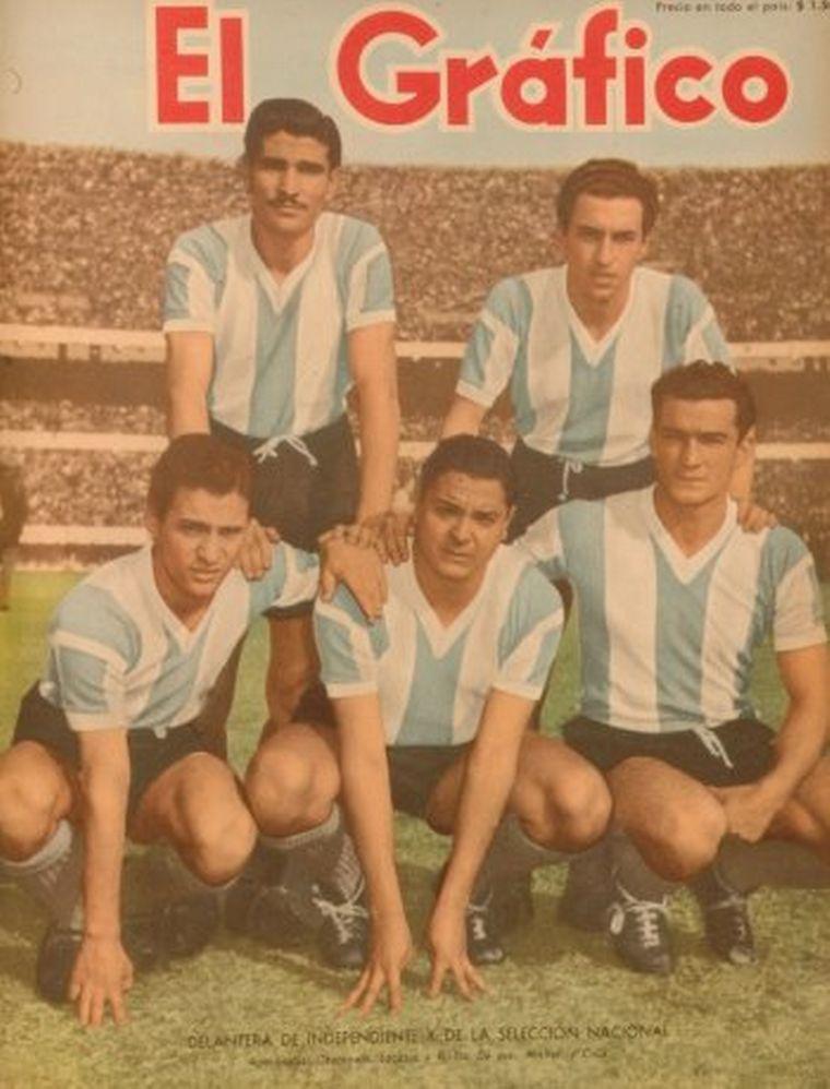 FOTO: El mítico gol de Ernesto Grillo a los ingleses del 14 de mayo de 1953.