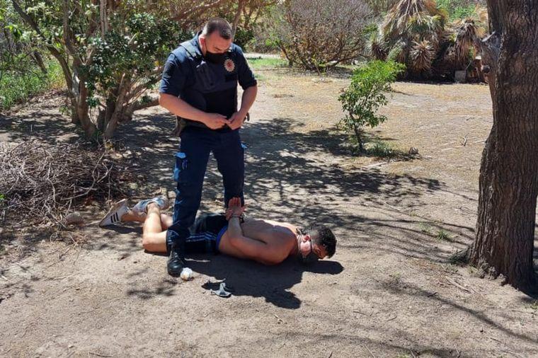 FOTO: El momento de la captura de los presos de Cruz del Eje que se fugaron con Covid-19.