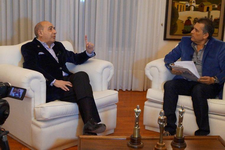 """FOTO: Gabriel Raies con Mario Pereyra, en su entrevista """"a fondo"""""""