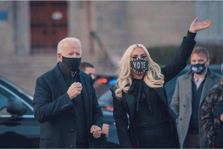 FOTO: Lady Gaga en el cierre de campaña de Joe Biden (Foto: The Hill)