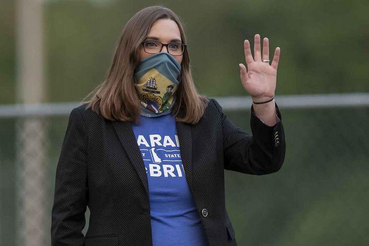 FOTO: Sarah McBride ocupará una banca en la Cámara alta de Estados Unidos.