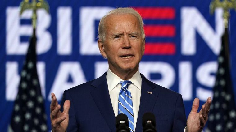 FOTO: Alberto y Cristina Fernández felicitaron a Joe Biden