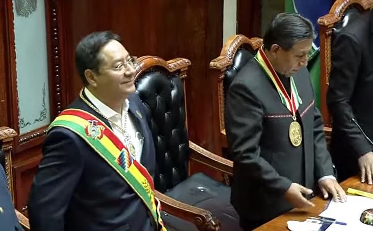 FOTO: Luis Arce asumió como presidente de Bolivia.
