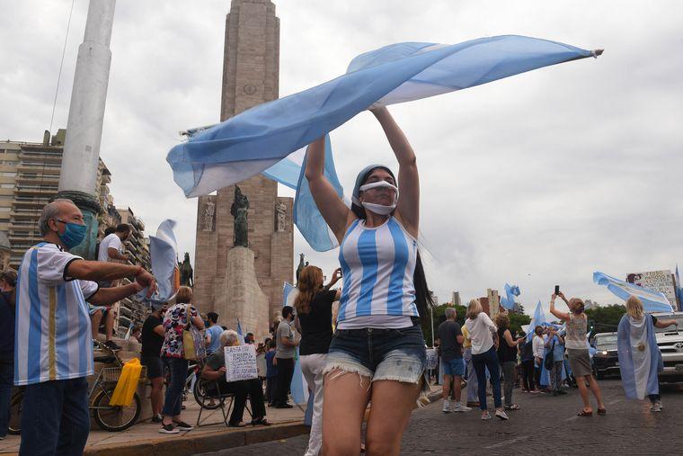 FOTO: El epicentro de las protestas fue en el Obelisco porteño.