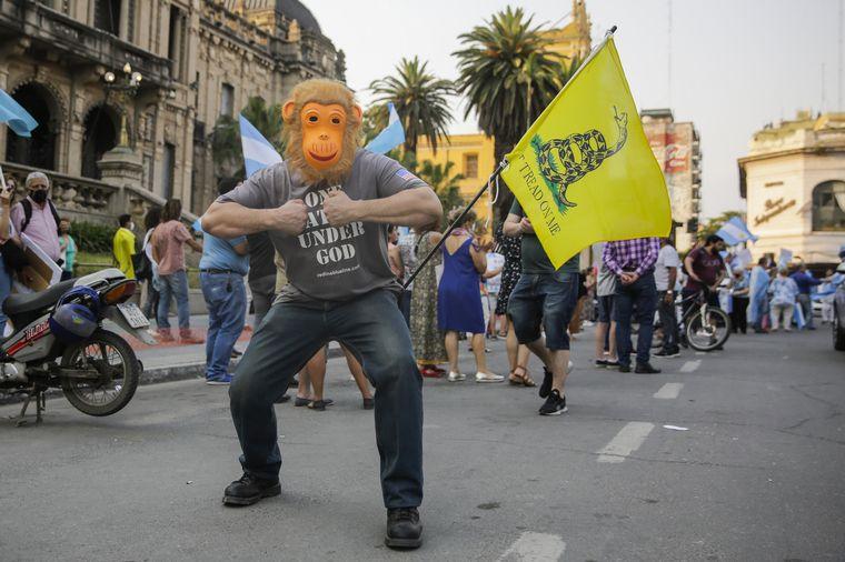 FOTO: Manifestación contra el Gobierno en Rosario.
