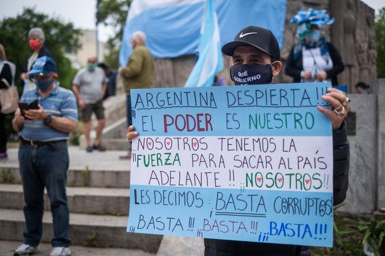 FOTO: Manifestación contra el Gobierno en Tucumán.