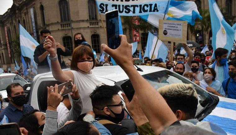 FOTO: Manifestación contra el Gobierno en Mendoza.