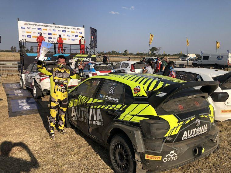 FOTO: Federico Villagra a RRío Cuarto por su primera victoria con el Yaris de Toyota.