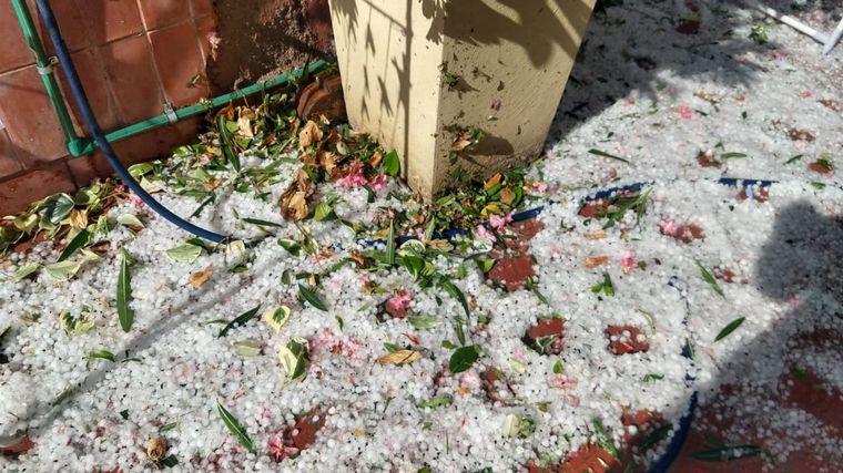 FOTO: Fuertes tormentas y caída de granizo en Mendoza.