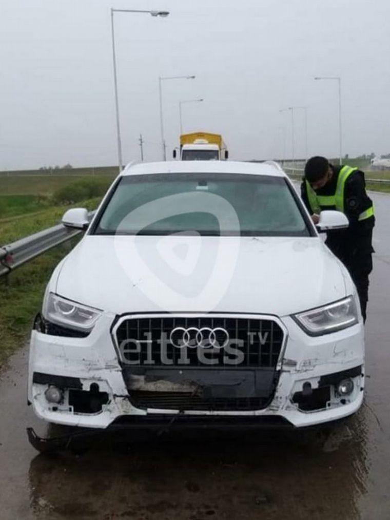 FOTO: Morena Rial y su hijo tuvieron un accidente en la ruta.